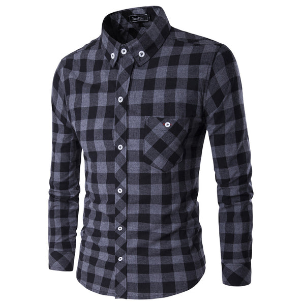 Classical Plaids Men's Long Sleeve Casual Shirt