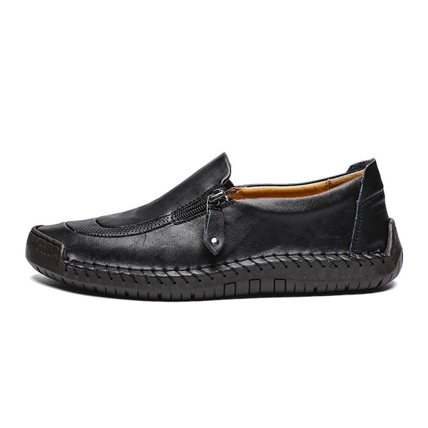 All Season Low Heel Genuine Leather Comfortable Slip-on Shoes