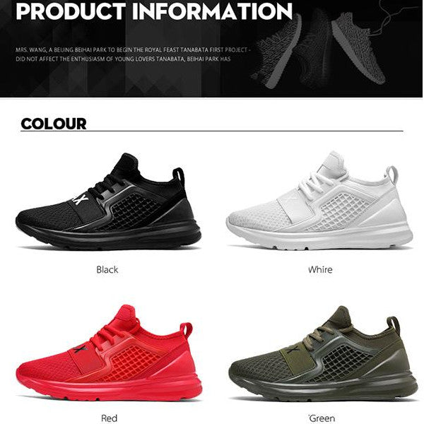 Men's Breathable Sports Woven Mesh All Season Sneaker