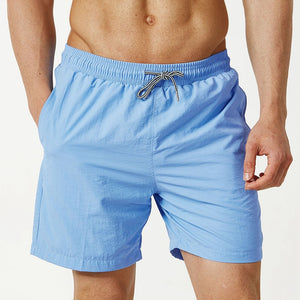 Men's Casual Sports Shorts Fashion Solid Colors Beach Swimwear Home Pants
