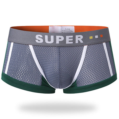 Breathable Sweat Absorbent U Convex Boxer Underwear