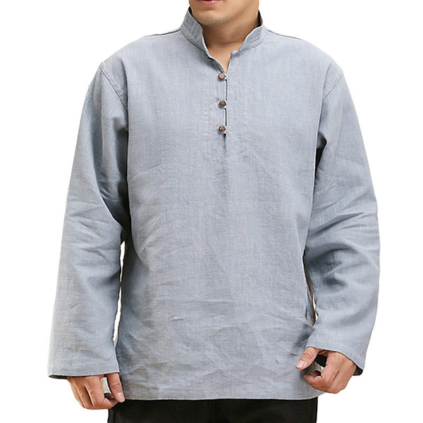 Men's Casual Linen Cotton T-Shirt