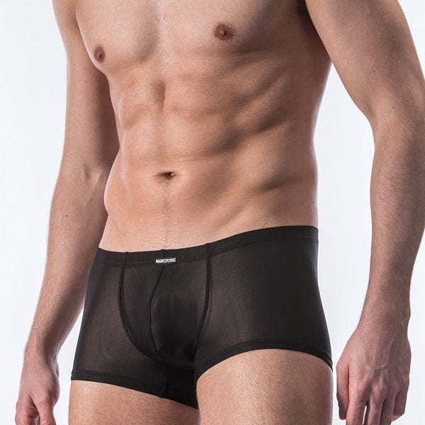 Men's Sexy Thin Ice Silk Soft Transparent Low Rise Boxers