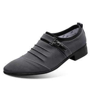 Men's Canvas Pointed Toe Cocktail Dress Shoes