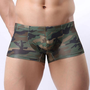 Men's Abstract Casual U Convex Boxer Briefs