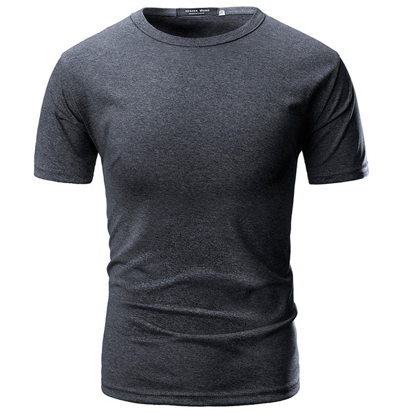 Men's Cotton Casual Round Neck T-Shirts