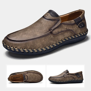 Men's Casual Round Toe Slip-On Flat Heel Shoes