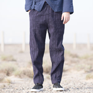Men's Chinese Style Retro Cotton Linen Casual Pants