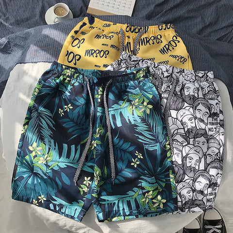 Casual Men's Beach Shorts Loose Couple Shorts 9 Colors