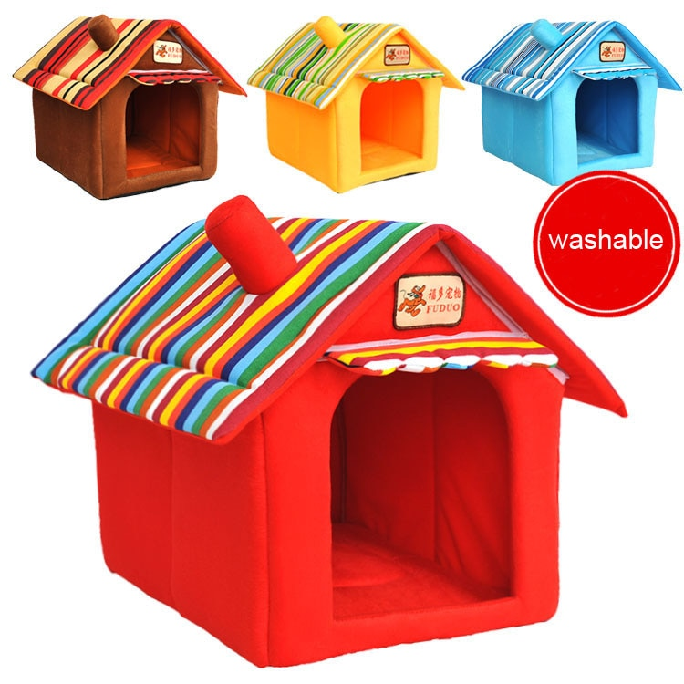 Soft Indoor Dog House Bed