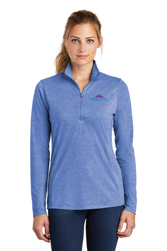 LST407 Ladies Sport-Tek PosiCharge Tri-Blend Wicking 1/4-Zip Pullover