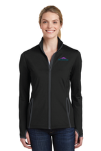 Load image into Gallery viewer, LST853 Ladies Sport-Tek Sport-Wick Stretch Contrast Full-Zip Jacket