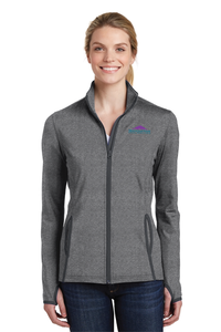 LST853 Ladies Sport-Tek Sport-Wick Stretch Contrast Full-Zip Jacket