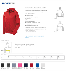Ladies Sport Tek Full Zip Fleece W/ Thumbholes