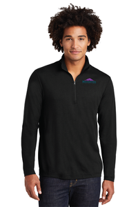 ST407 Mens Sport-Tek PosiCharge Tri-Blend Wicking 1/4-Zip Pullover