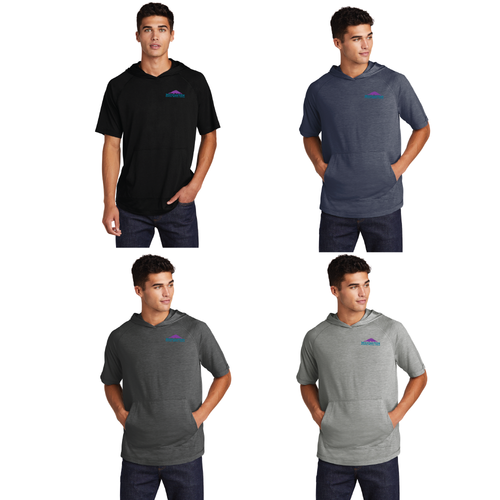 SMST404 Sport-Tek ® PosiCharge ® Tri-Blend Wicking Short Sleeve Hoodie Adult