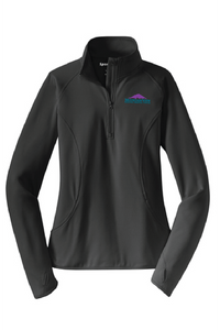 Ladies Sport Tek  Sport-Wick Stretch Pull Over W/ Thumbholes