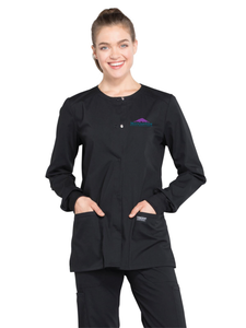 Ladies Snap Front Warmup Jacket Scrub
