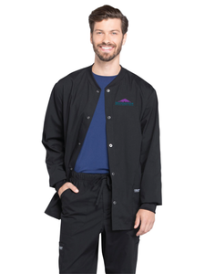 Men's Snap Front Warmup Jacket Scrub