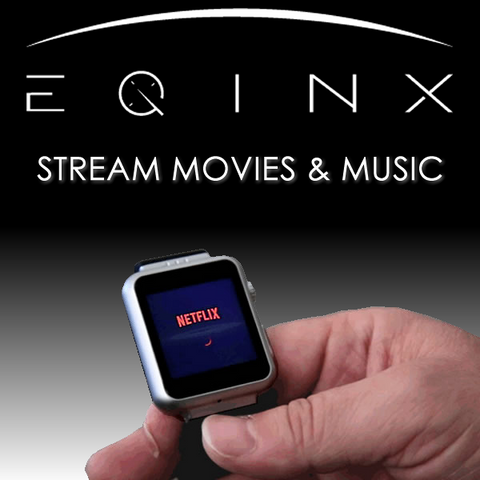 EQINX Smart Phone - VideoPhone & Fitness Tracker with Bluetooth Earpod