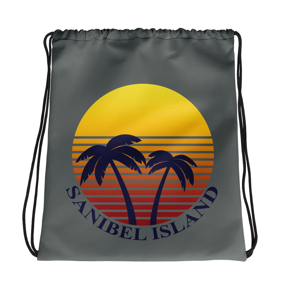 Sunset Collection Beach Drawstring bag