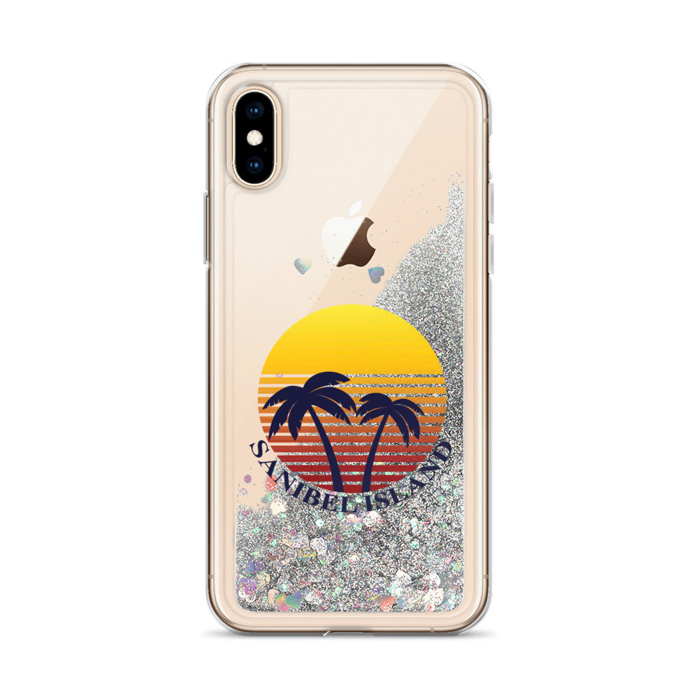 Sunset Collection iPhone Liquid Shell Glitter Phone Case