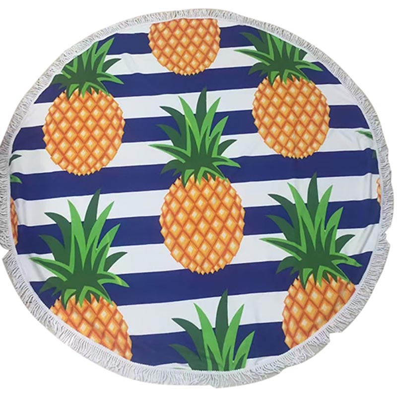 Round Pineapple Beach Towel