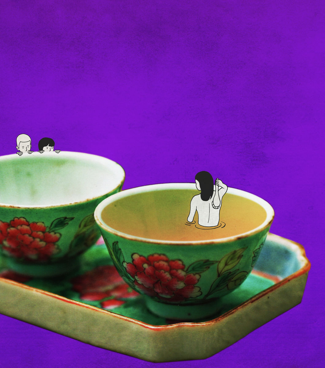 Peranakan Miniature (Cups of Tea)