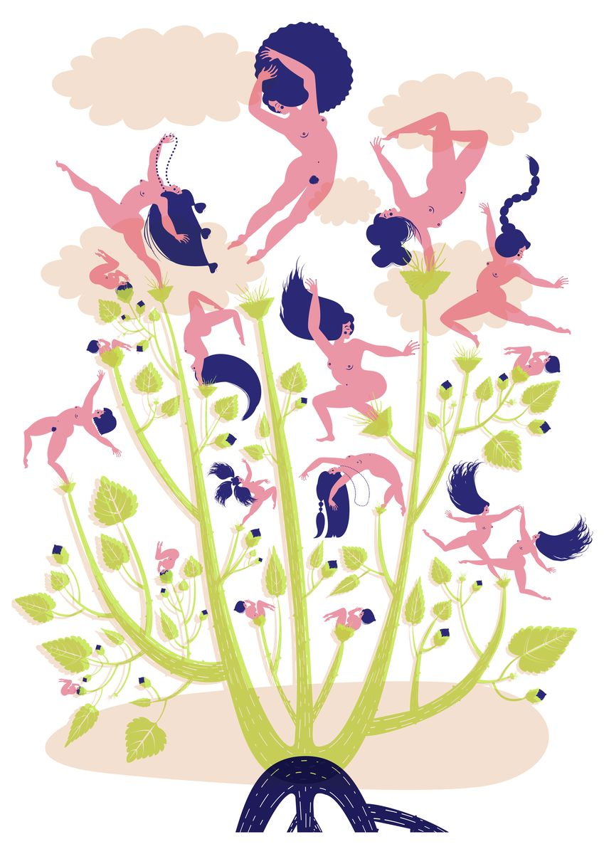 Botanical  Series Dancing Gurls