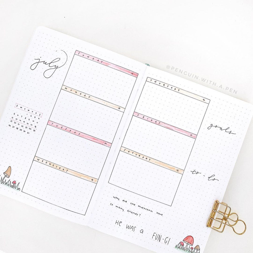 5 Weekly bullet journal spread layouts to try