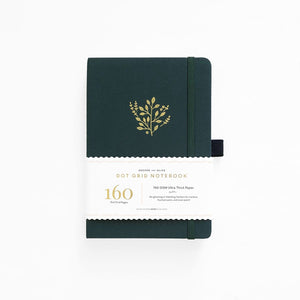 A5 ARCHER & OLIVE DEEP GREEN DOT GRID NOTEBOOK