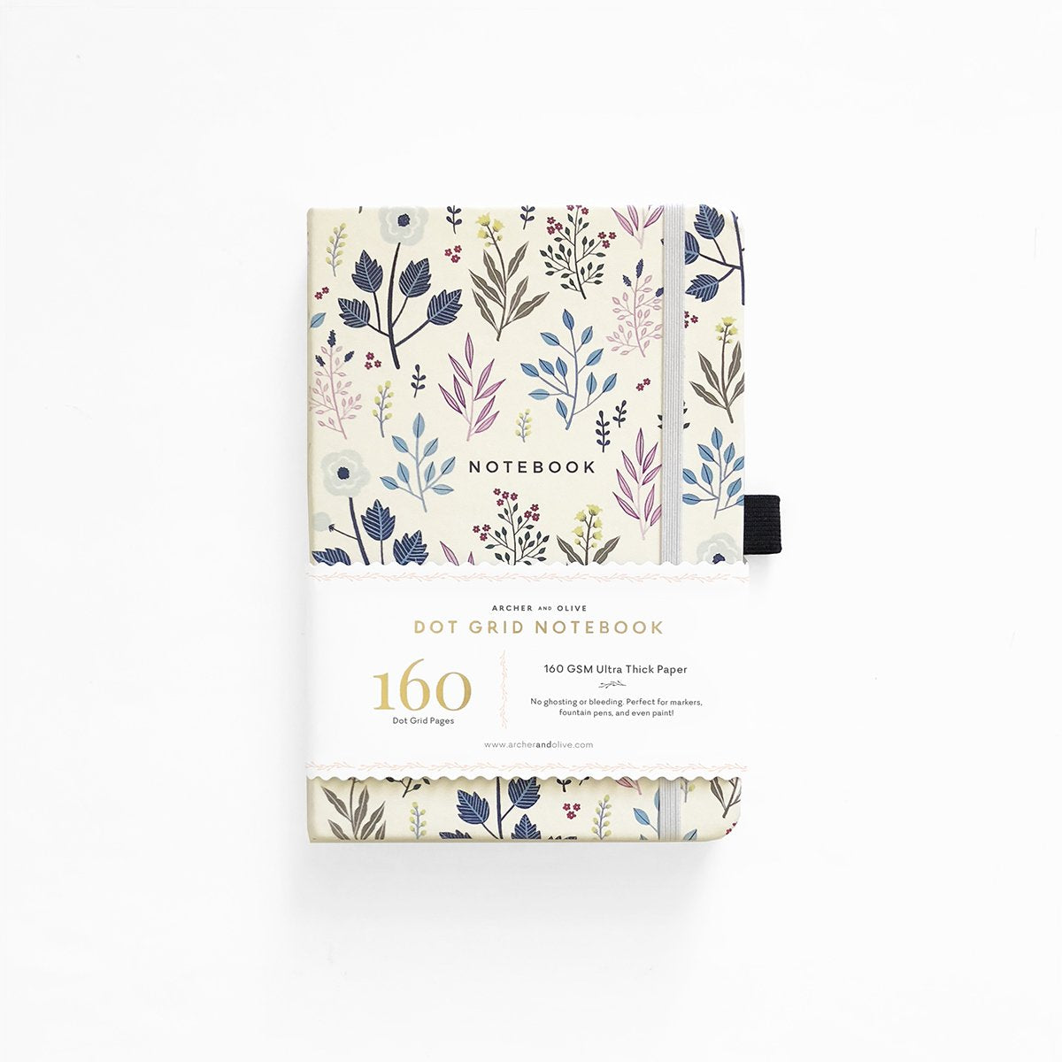 A5 ARCHER & OLIVE FALL FLOWERS DOT GRID NOTEBOOK