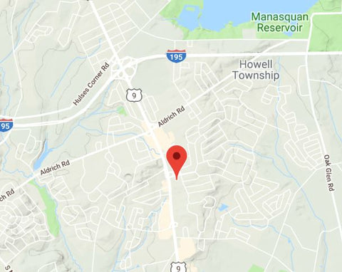 Map of Howell, NJ - Gifts of Nature Organics