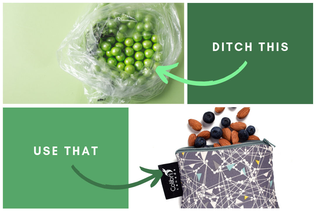 Ditch: ziploxk baggies, Use: reusable snack bags