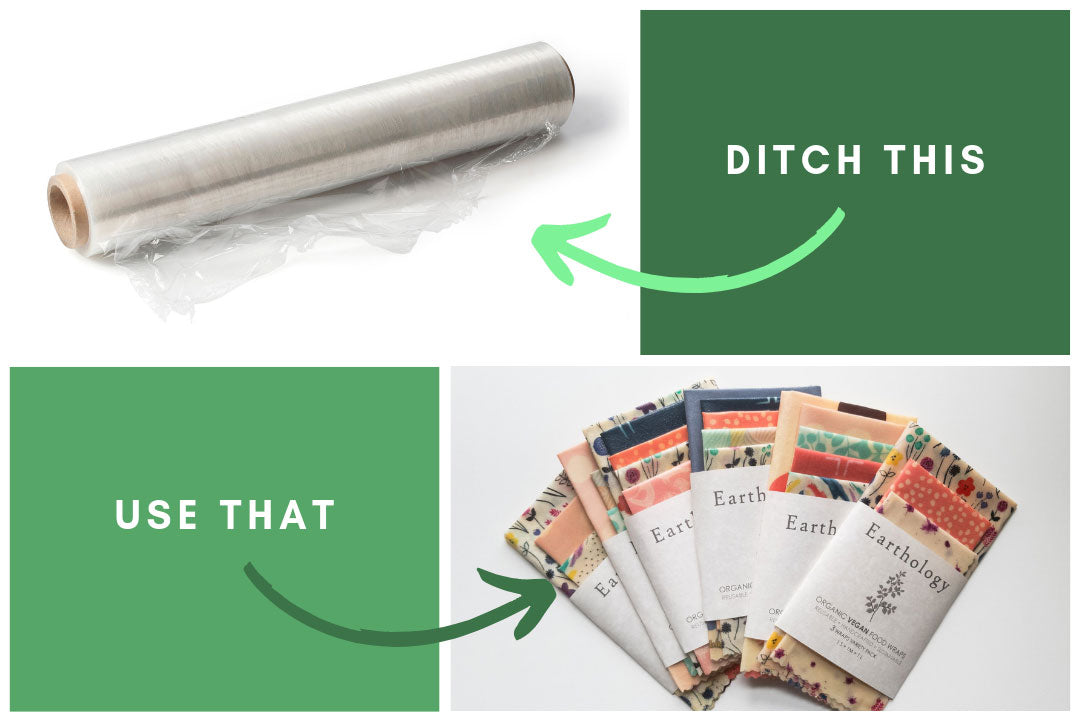 Ditch: plastic wrap, Use: vegan wax food wraps