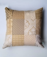 Load image into Gallery viewer, Ardent Earth upcycled Delaunay accent pillow ivory front