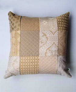 Ardent Earth upcycled Delaunay accent pillow ivory front
