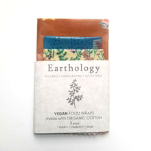Load image into Gallery viewer, Earthology vegan food wraps 3 wrap variety pack