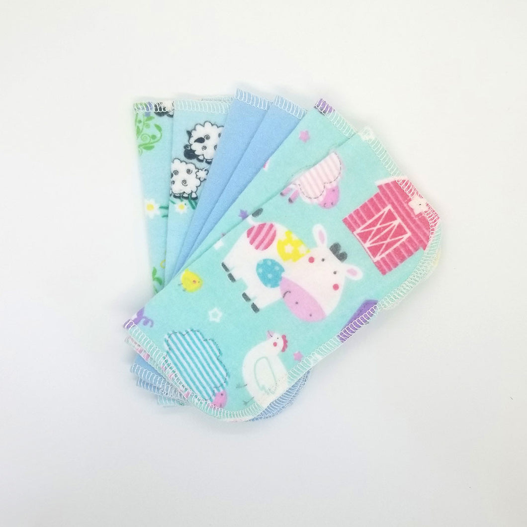 Upcycled Cloth Wipes (set of 6)