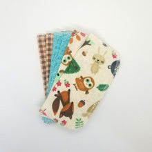 Load image into Gallery viewer, Upcycled Cloth Wipes (set of 6)