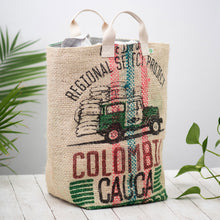 Load image into Gallery viewer, Upcycled Coffee Sack Laundry Hamper / Extra Large Tote