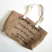 Load image into Gallery viewer, upcycled tote bag - Cafe Imports BACK
