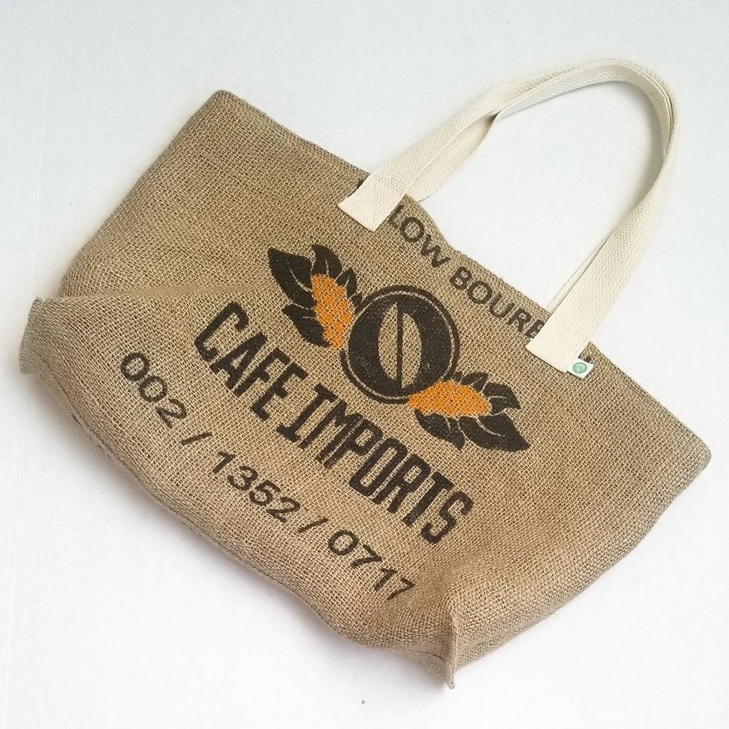 upcycled tote bag - Cafe Imports FRONT