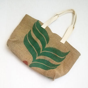 upcycled tote bag - Cafes do Brasil BACK