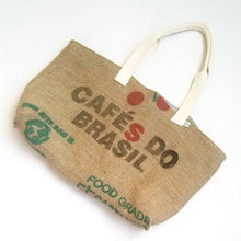 Load image into Gallery viewer, upcycled tote bag - Cafes do Brasil FRONT