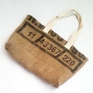 upcycled tote bag - Clean Coffee BACK