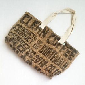 upcycled tote bag - Clean Coffee FRONT