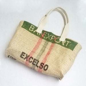 upcycled tote bag - Women Coffee Producers BACK