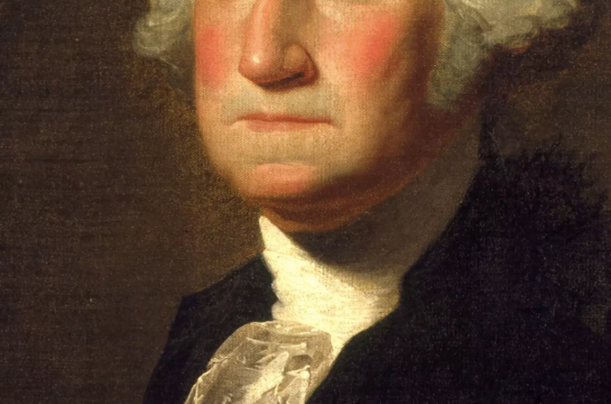 Close-up of George Washington's mouth in portrait, for AutoBrush blog
