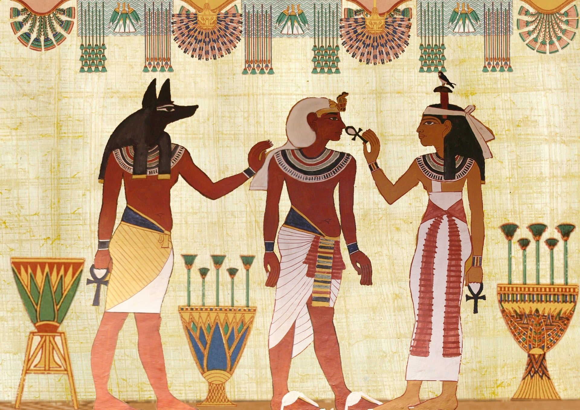 Ancient Egyptian wall painting, for AutoBrush